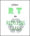 Letters R and T for Recycling